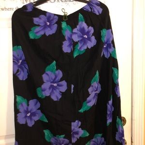 Fitting images floral print buttons front skirt